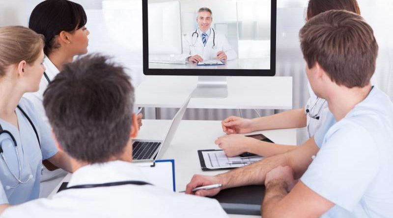 online video conference in New York