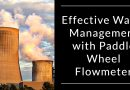 Effective Water Management with Paddle Wheel Flowmeter